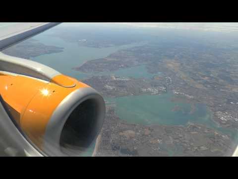 Maiden revenue flight of Aurigny Embraer 195  G-NSEY Guernsey to Gatwick 3 July 2014