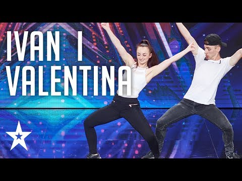 Valentina i Ivan show off their chemistry│Supertalent 2018│Auditions
