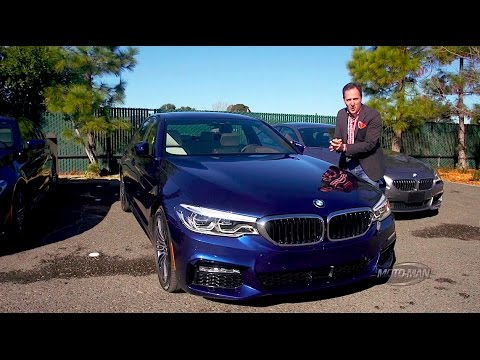 A car that parks itself 2017 BMW 5 Series SELF PARKING DEMO