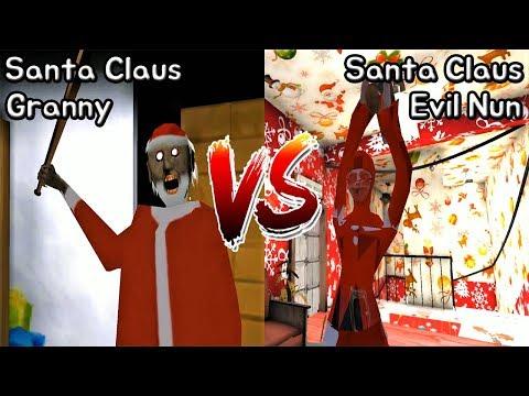 Santa Granny Vs Santa Evil Nun || Christmas Mod Battle || Horror Game - 산타 그래니 Vs 산타 미친수녀 배틀