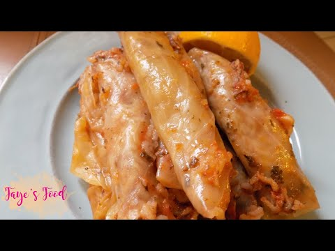 Lebanese Stuffed Cabbage Rolls (Malfouf)