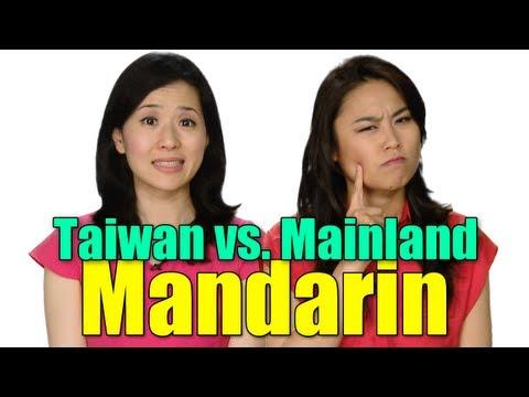 Taiwan vs. Mainland Mandarin Chinese