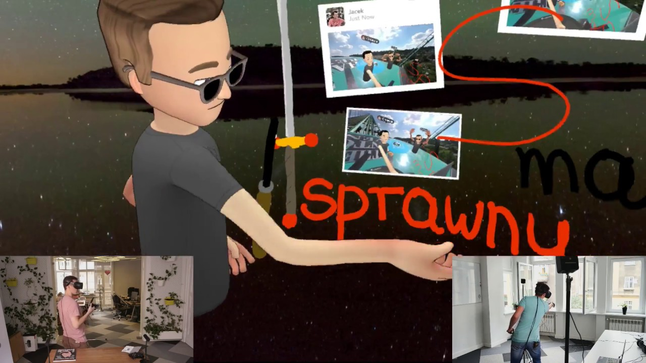 Facebook Spaces z Oculus Rift i HTC Vive