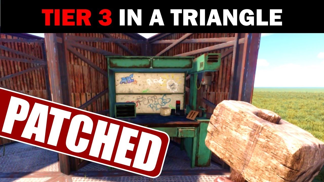Tier 3 Work Bench In A Single Triangle Patched Youtube