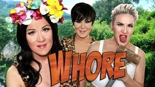 One of Charlie Hides TV's most viewed videos: Roar/Wrecking Ball Parody - starring Katy Perry, Miley Cyrus & Kris Jenner