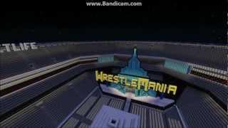 WWE Wrestlemania 29 - Metlife Stadium - Minecraft
