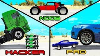 NOOB vs PRO vs HACKER #24 - Beamng drive