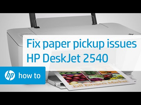 Fixing Paper Pick Up Issues | HP Deskjet 2540 All-in-One Printer | HP