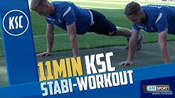 11.MIN | KSC-STABI-WORKOUT (Optional mit Fitnessband)