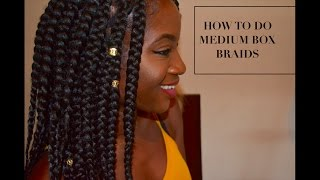 detailed medium jumbo box braids tutorial