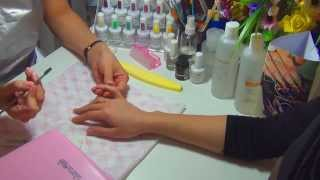 Покрытие ногтей гель-лаком Glory&Shain поэтапно