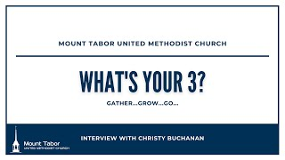 What's Your 3? Interview with Christy Buchanan