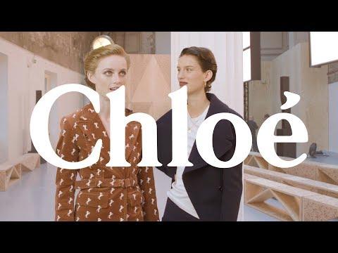 Rianne Von Rompaey & Marte Mei Interview - Chloé SS20 Show
