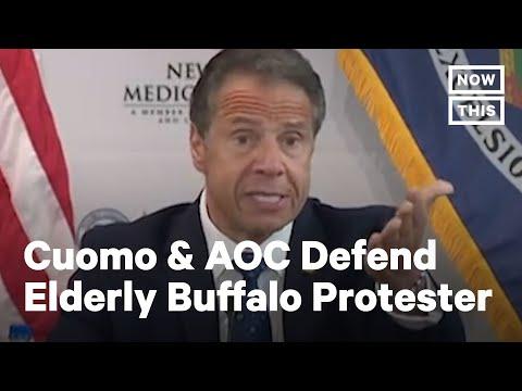 Gov. Cuomo & AOC Shut Down Trump's Conspiracy About Elderly Buffalo Protester | NowThis