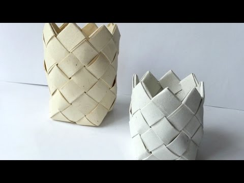 Weave a Fun Paper Basket - DIY Crafts - Guidecentral
