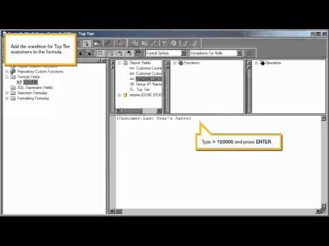 Create a Boolean formula: Crystal Reports 2011