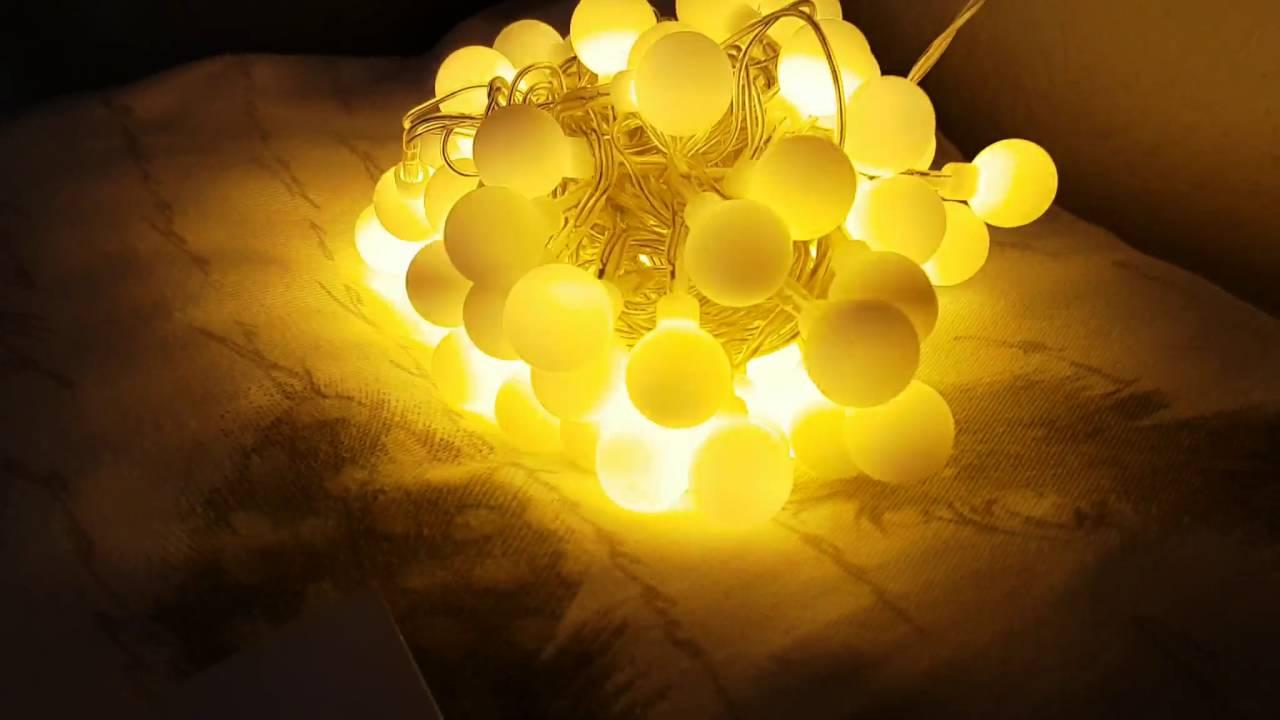 innootech led globe lichterkette innen deko gl hbirne 10 meter 100er warmwei youtube. Black Bedroom Furniture Sets. Home Design Ideas