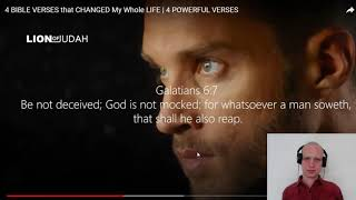 Responding to 4 BIBLE VERSES that CHANGED My Whole LIFE | 4 POWERFUL VERSES
