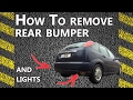 How to remove Rear Bumper on a Ford Focus ZX3 ZX5 - Step by Step