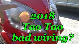 Tao Tao headlight on fire and melted