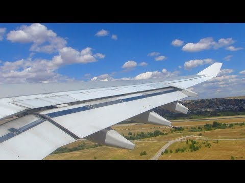 STUNNING TURBULENT TAKEOFF! IBERIA A340-300 Takeoff from Madrid Barajas Airport [Full HD]