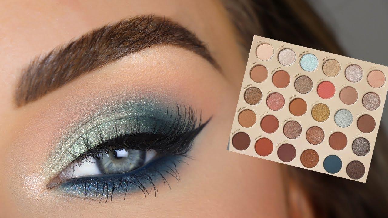 ColourPop You're Golden Palette | Blue Eyeshadow Tutorial