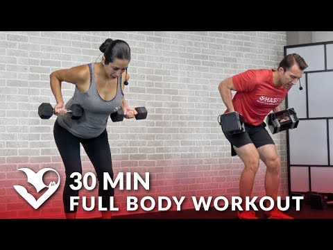 30 Minute Full Body Workout with Dumbbells Home Strength Training Total Body Workout with Weights
