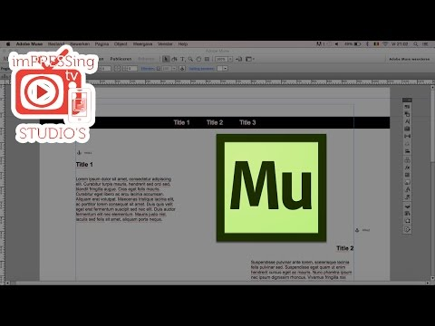 How to create a sliding menu in Adobe Muse©