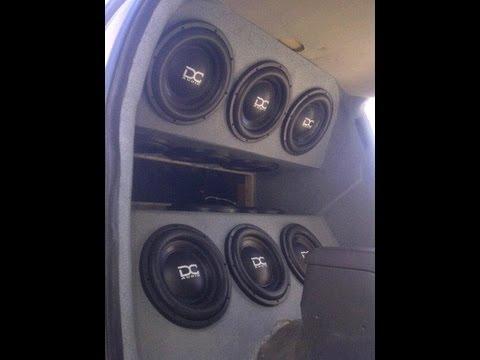 """Crazy Windshield Flex 10,000 Watt Bass """"Burp"""" - 12 DC Audio 12"""" Woofers"""