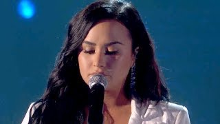 "Demi Lovato BREAKS DOWN Debuting ""Anyone"" At GRAMMYs 2020"