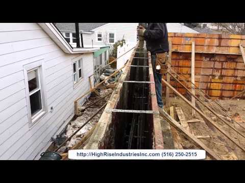 Pouring A Foundation Wall In East Rockaway