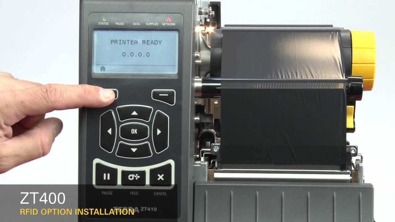 Zebra ZT400 Series: How-to Install RFID Option