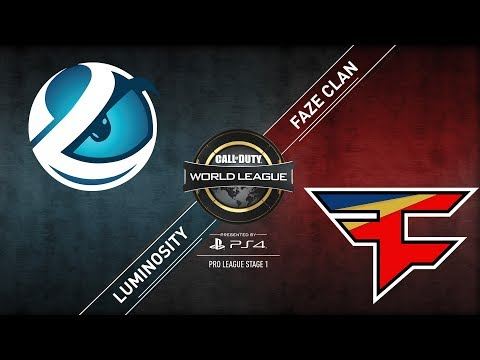 FaZe Clan vs Luminosity | CWL Pro League | Stage 1 | Week 8 | Day 3