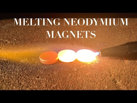 Melting Neodymium Magnets