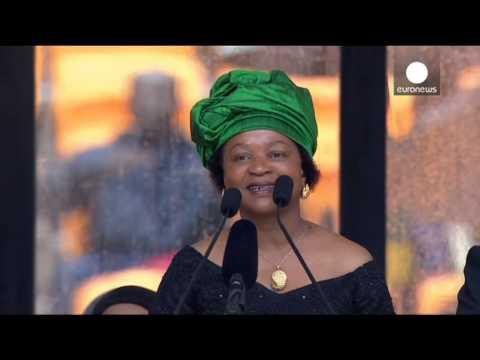 Mandela forever: Baleka Mbete sings 'Tata Madiba' with cheering crowd at memorial ceremony
