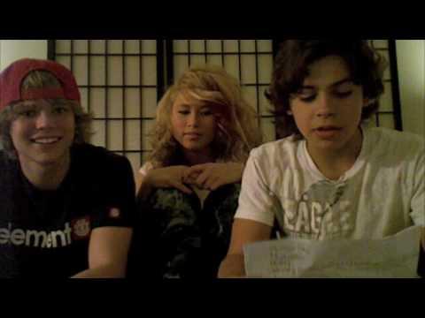 Savannah Van, Jake T. Austin, and Christian Fortune Shoutout
