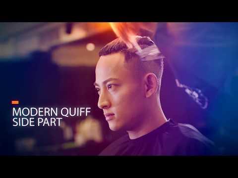 男生髮型/Modern quiff油頭旁分後梳/台北公館剪髮.染髮/髮型師海諾