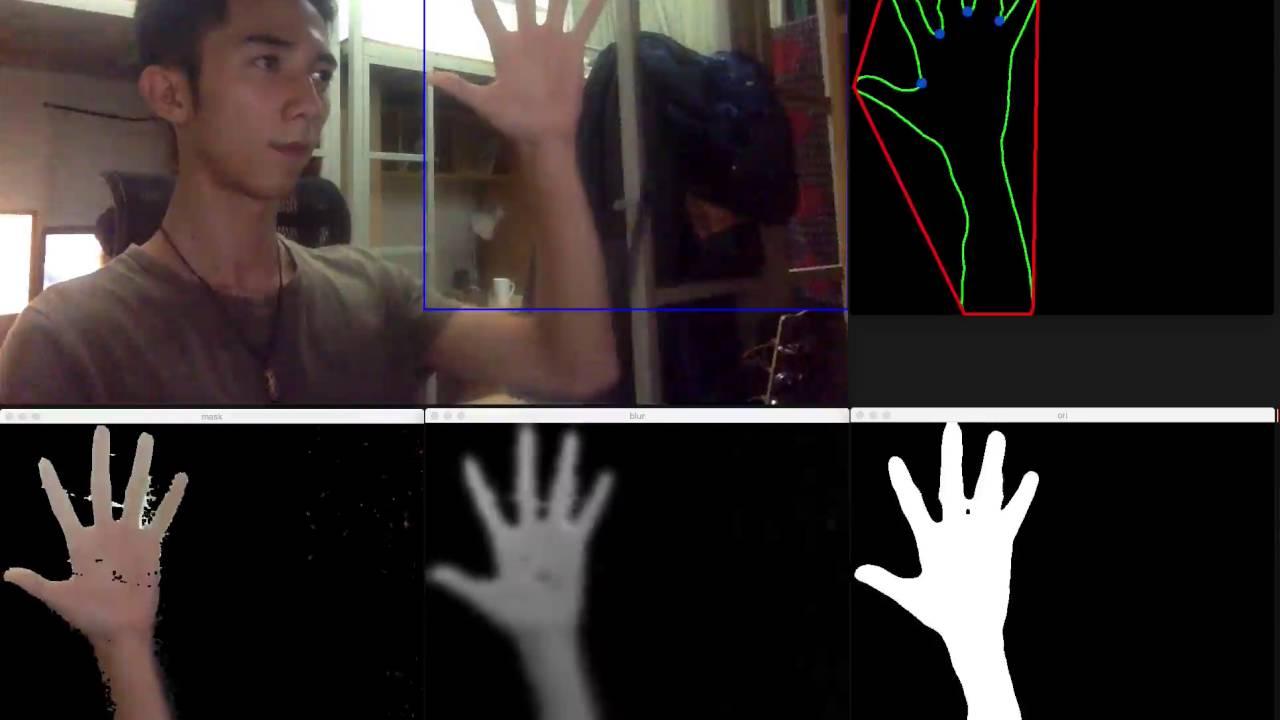 简单的手势识别 | Fingers Detection using OpenCV and Python