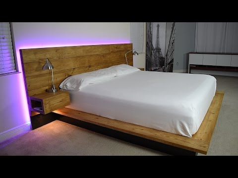DIY Platform Bed With Floating Night Stands