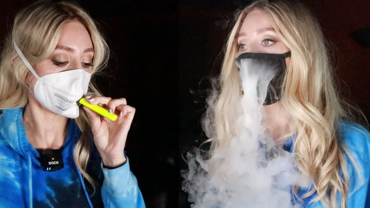 Download MASK TEST   VAPING WHILE WEARING VARIOUS MASKS   N95, Surgical, Cotton and more.
