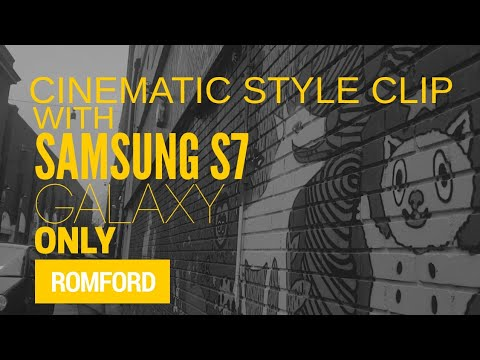 Romford London CINEMATIC style -  Make a movie using  iPhone or Samsung only !