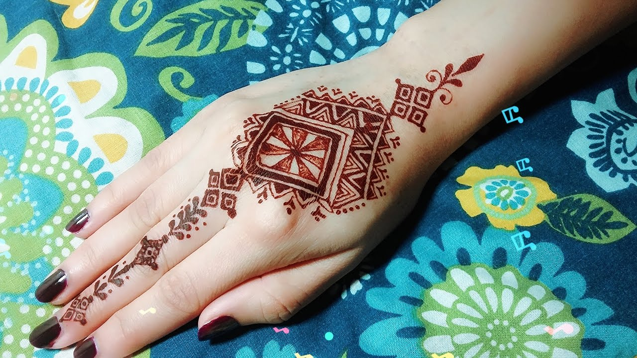 How To Moroccan Henna Design Tutorial 12 Temporary Tattoo Youtube