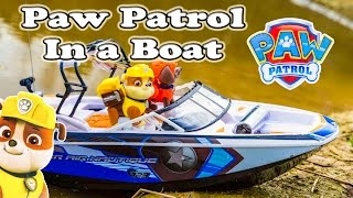 PAW PATROL Nickelodeon Paw Patrol Rubble on a Boat a Paw Patrol Video Parody