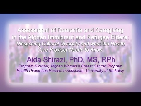 Assessment of Dementia and Caregiving  for Afghan Immigrant Elders