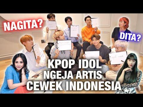 KPOP BOYGROUP KOREA COBA NGEJA NAMA ARTIS CEWEK INDONESIA! | NAGITA SLAVINA? DITA KARANG?
