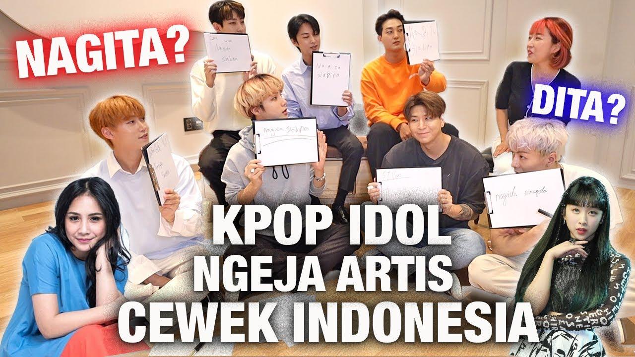 KPOP BOYGROUP KOREA COBA NGEJA NAMA ARTIS CEWEK INDONESIA!   NAGITA SLAVINA? DITA KARANG?