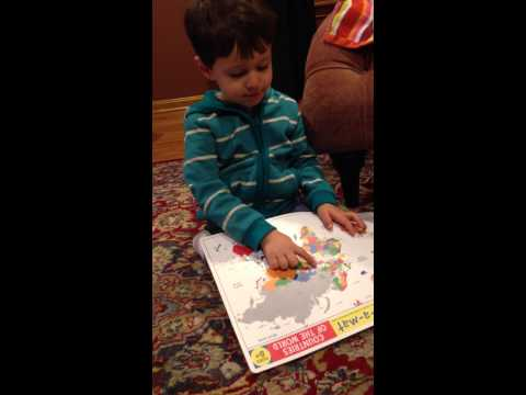 3 Year Old Names Every Country in Central America, Europe and Asia
