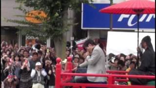 2009年9月23日福島県会津若松市で行われた「会津まつり」会津藩公行列に...