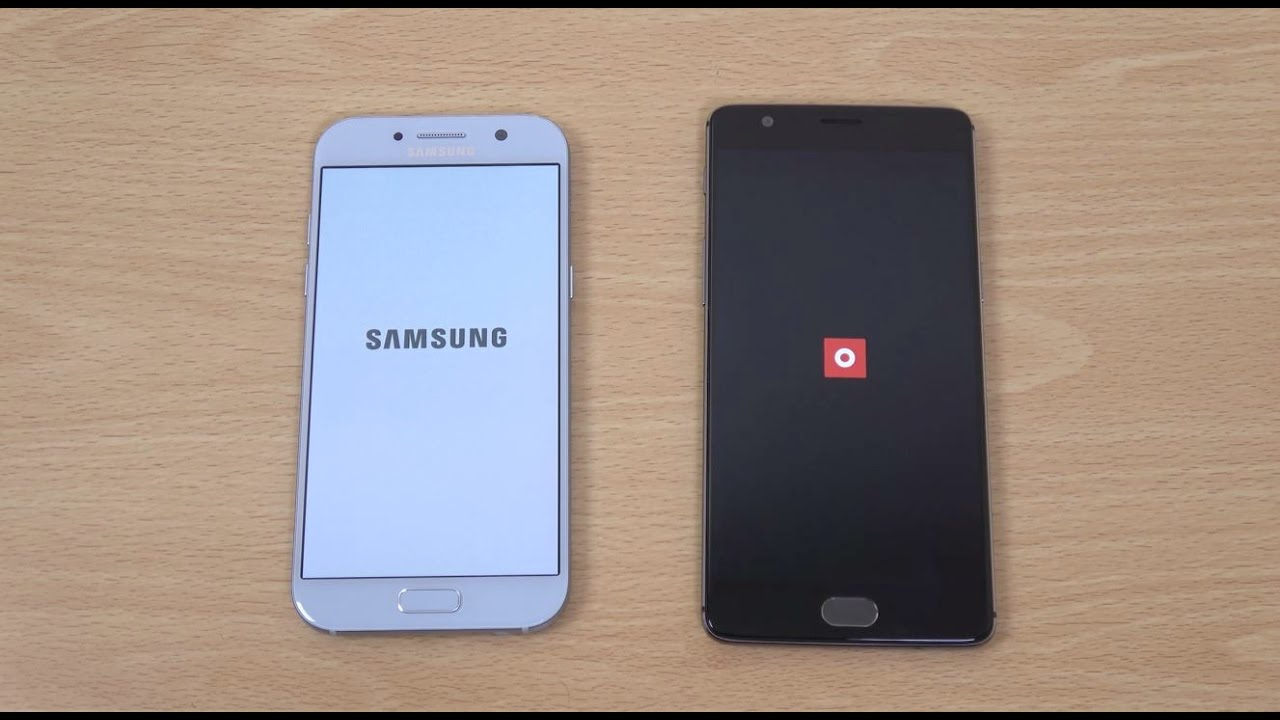 samsung galaxy a5 2017 vs oneplus 3t speed test youtube. Black Bedroom Furniture Sets. Home Design Ideas