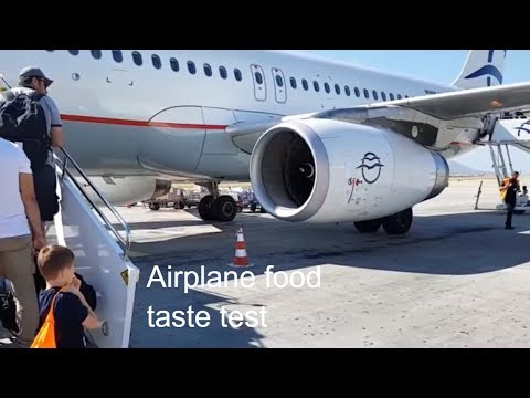 Candy Kid Canada:  Food on the airplane (Cyprus and Rome Travel Vlog)